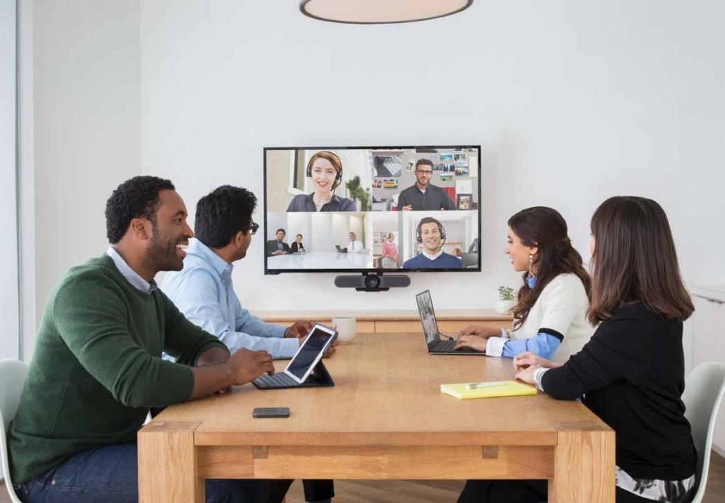 Videoconferencing Logitech meetup